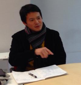 2014年 応援団団長の森岡晋平さん
